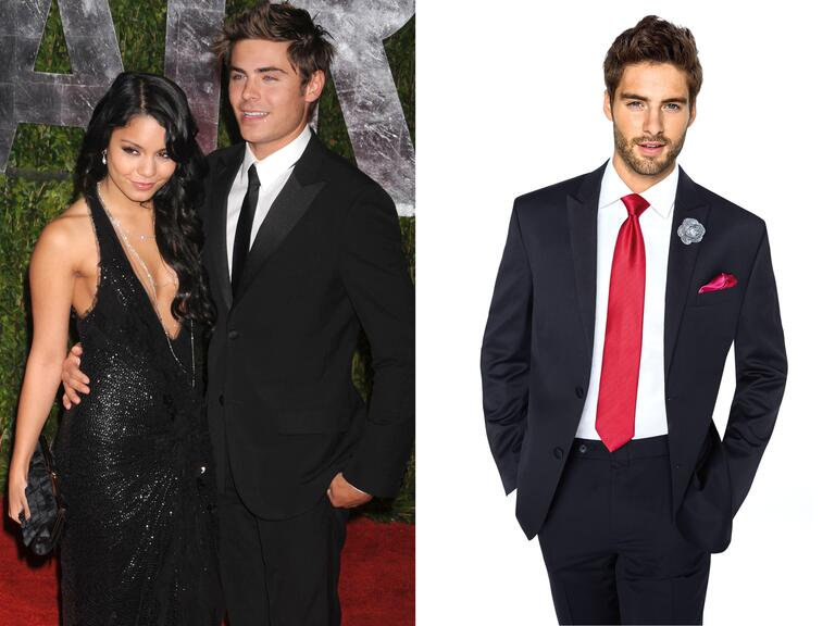 Zac Efron and former girlfriend Vanessa Hudgens at a Vanity Fair party