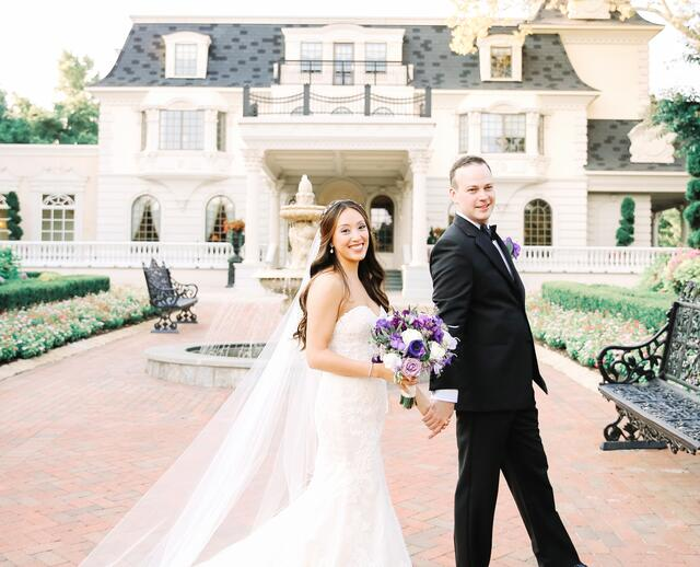 A Whimsical Purple Wedding At The Ashford Estate In Allentown New Jersey