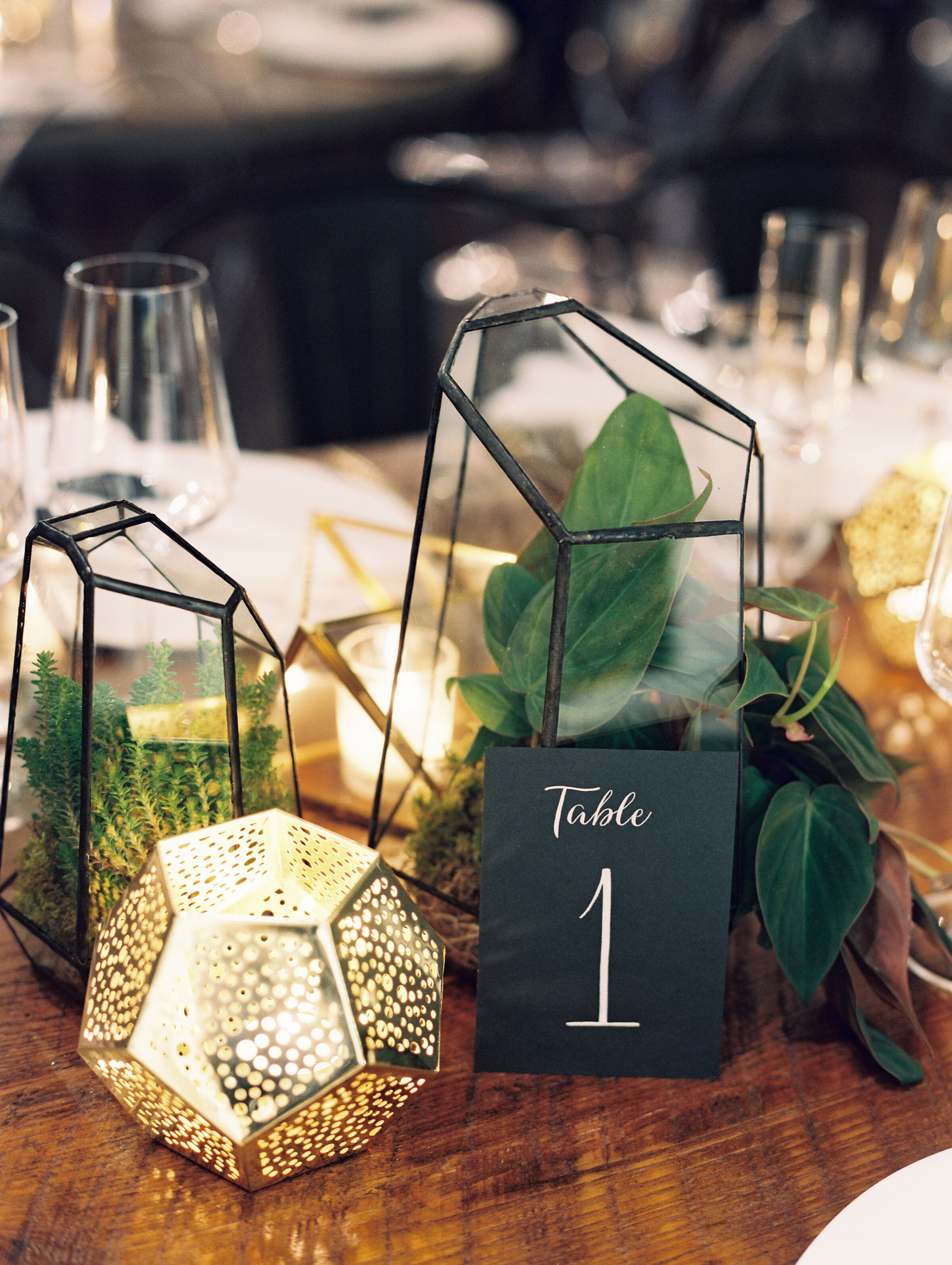 Gold Geometric Terrarium Centerpiece Off 77 Buy