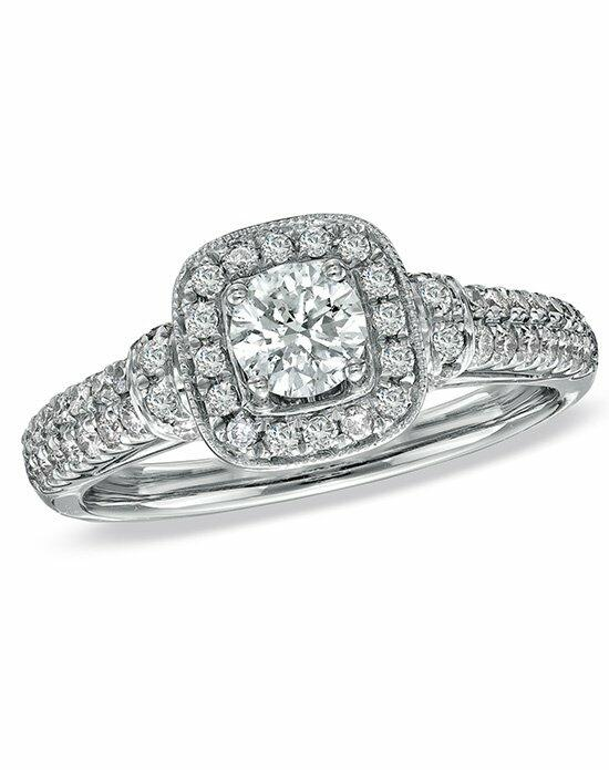 Vera Wang LOVE at Zales Wang LOVE Collection 3/4 CT. T.W. Diamond Frame Engagement Ring in 14K White Gold  18628248 Engagement Ring photo