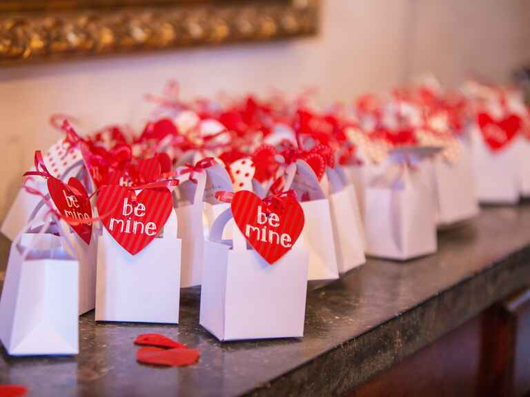 Valentine's Day wedding favors