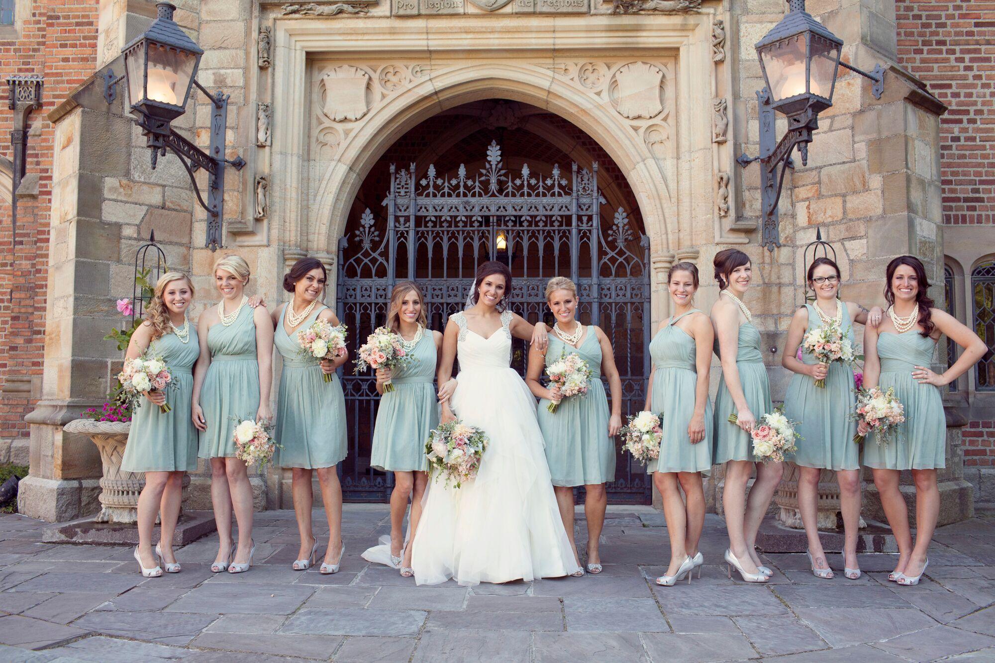 Sage J. Crew Bridesmaid Dresses