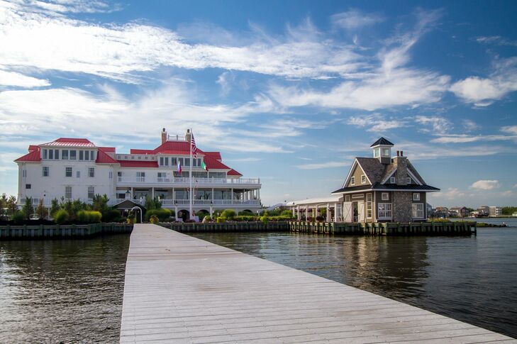The ceremony and reception were held at the elegant Mallard Island Yacht Club, offering beautiful views of Barnegat Bay.