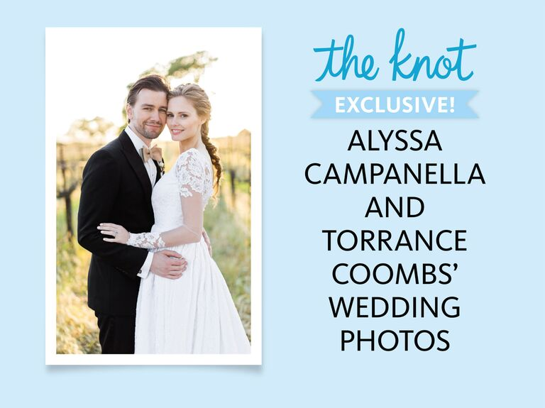 Alyssa Campanella and Torrance Coombs wedding photo