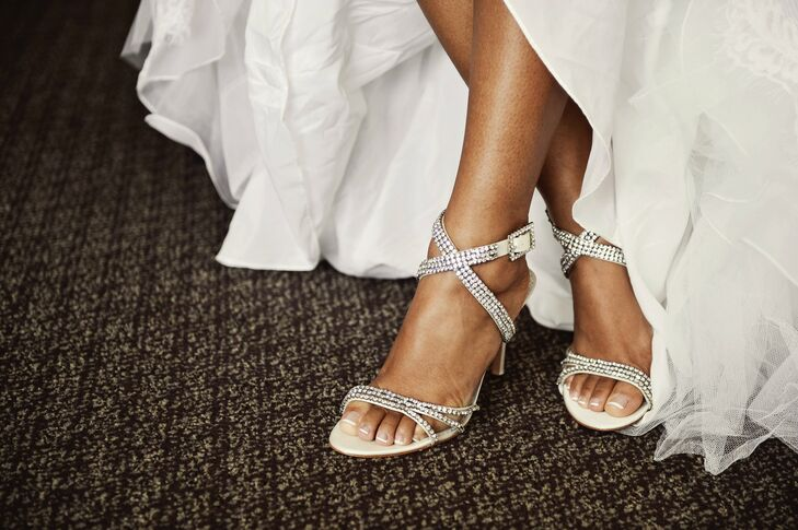 Crystal Strappy Wedding Shoes