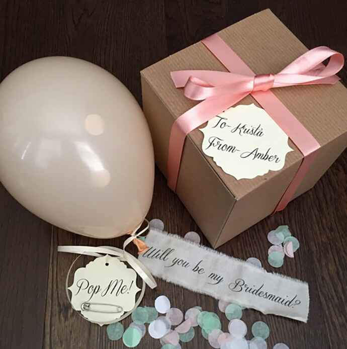 Etsy Pop the Question bridesmaid proposal gift