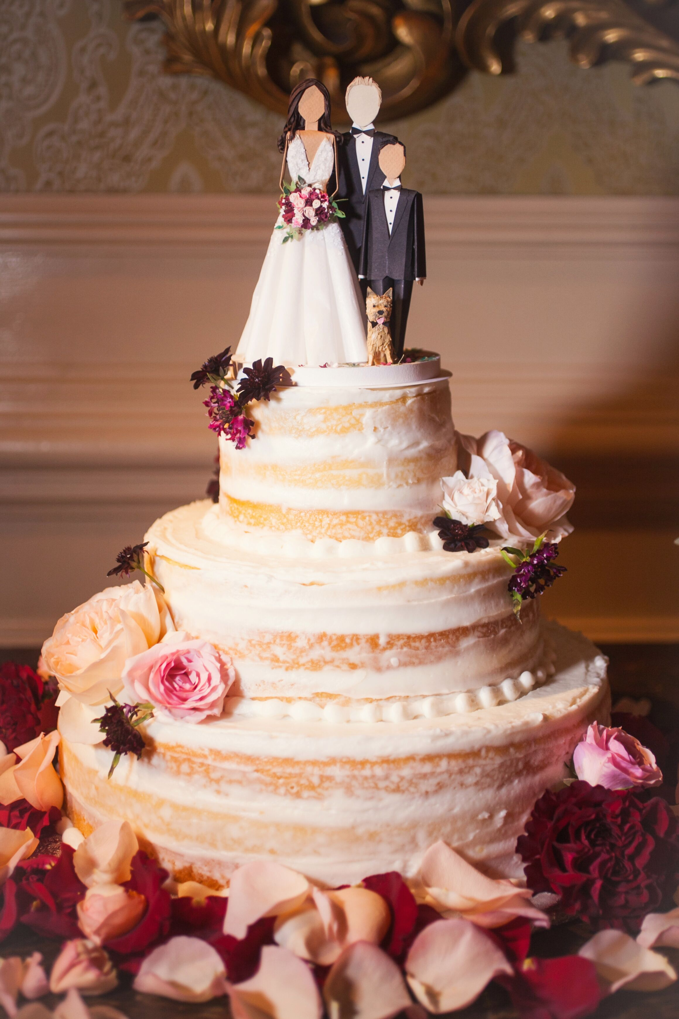 Naked Wedding Butter Cake With Buttercream Frosting-4646