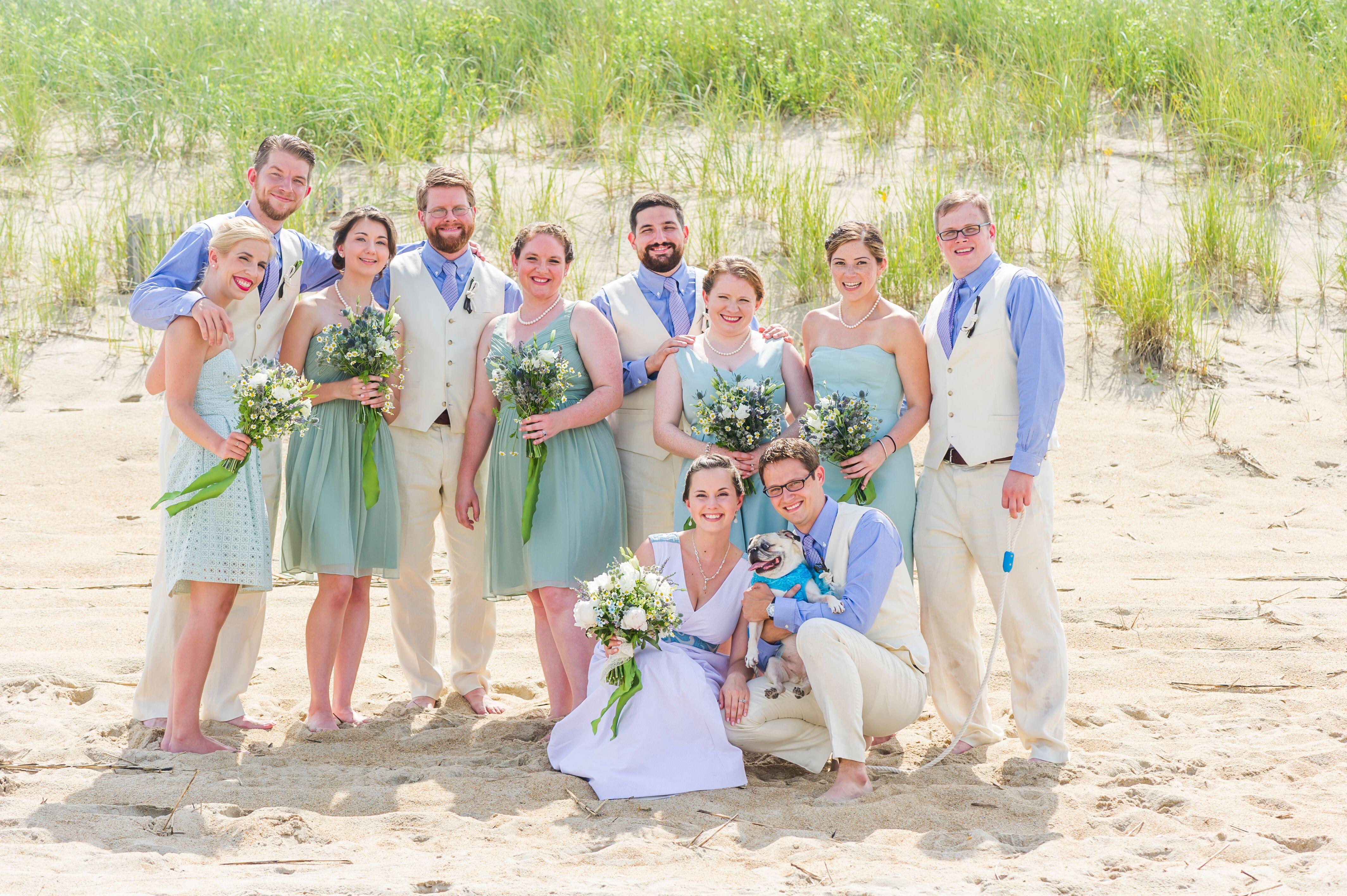 J.Crew Mint Seaglass-Inspired Bridesmaid Dresses