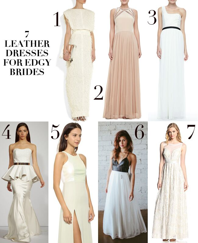 Wedding Dresses with Leather