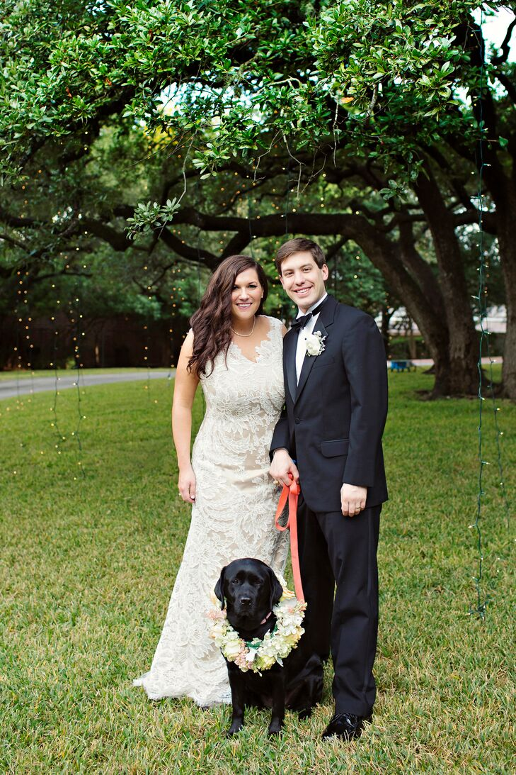 a chic backyard wedding at a private residence in san antonio texas