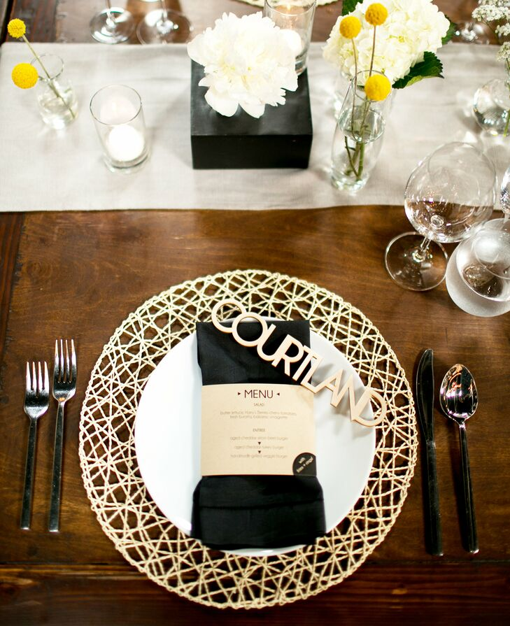 Laser Cut Wooden Place Cards And Placemats