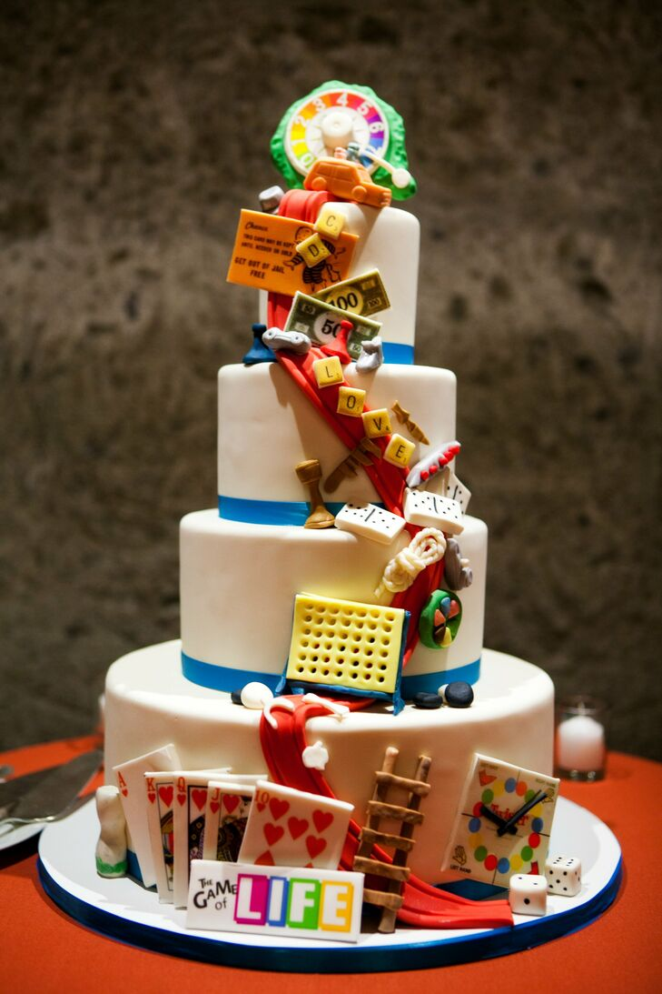 board game wedding cake. Black Bedroom Furniture Sets. Home Design Ideas
