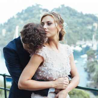 Aly Michalka's wedding day