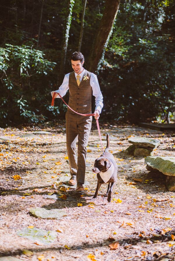 Ceremony Processional with Puppy Ring Bearer