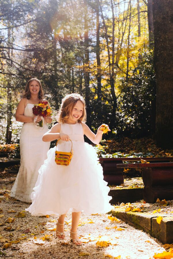 Whimsical Full-Skirted Flower Girl Dress
