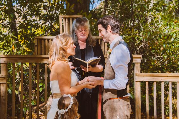 Intimate Outdoor Elopement Ceremony