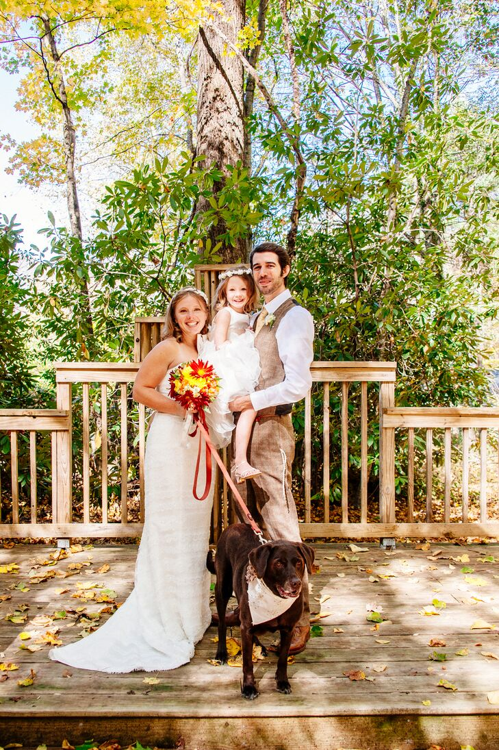 """We love spending time with each other and truly enjoy one another's company,"" says Sarah, ""It was blissful being able to truly focus on each other and our daughter on such a special day."""