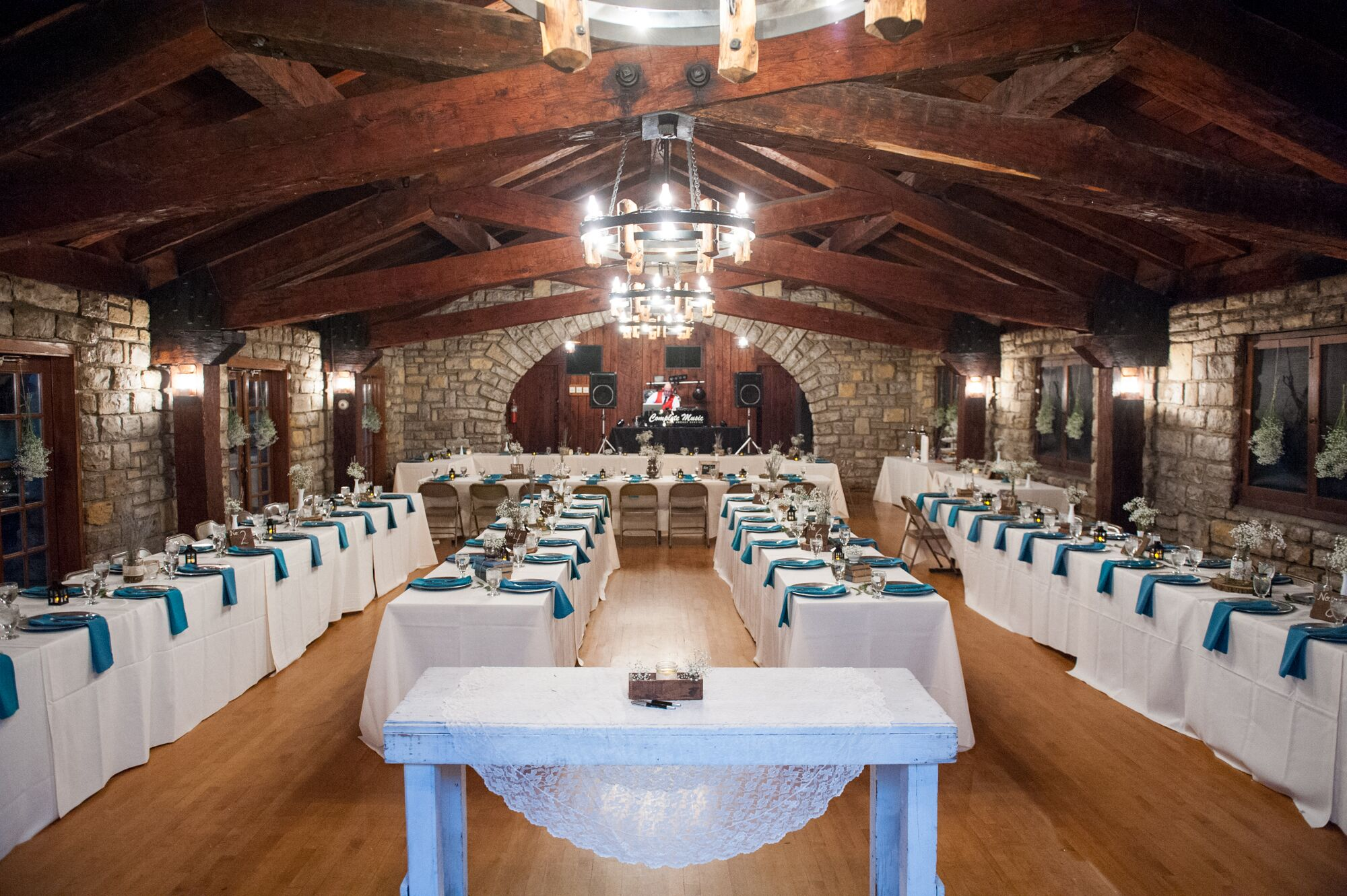 Rustic Reception At James P Davis Hall