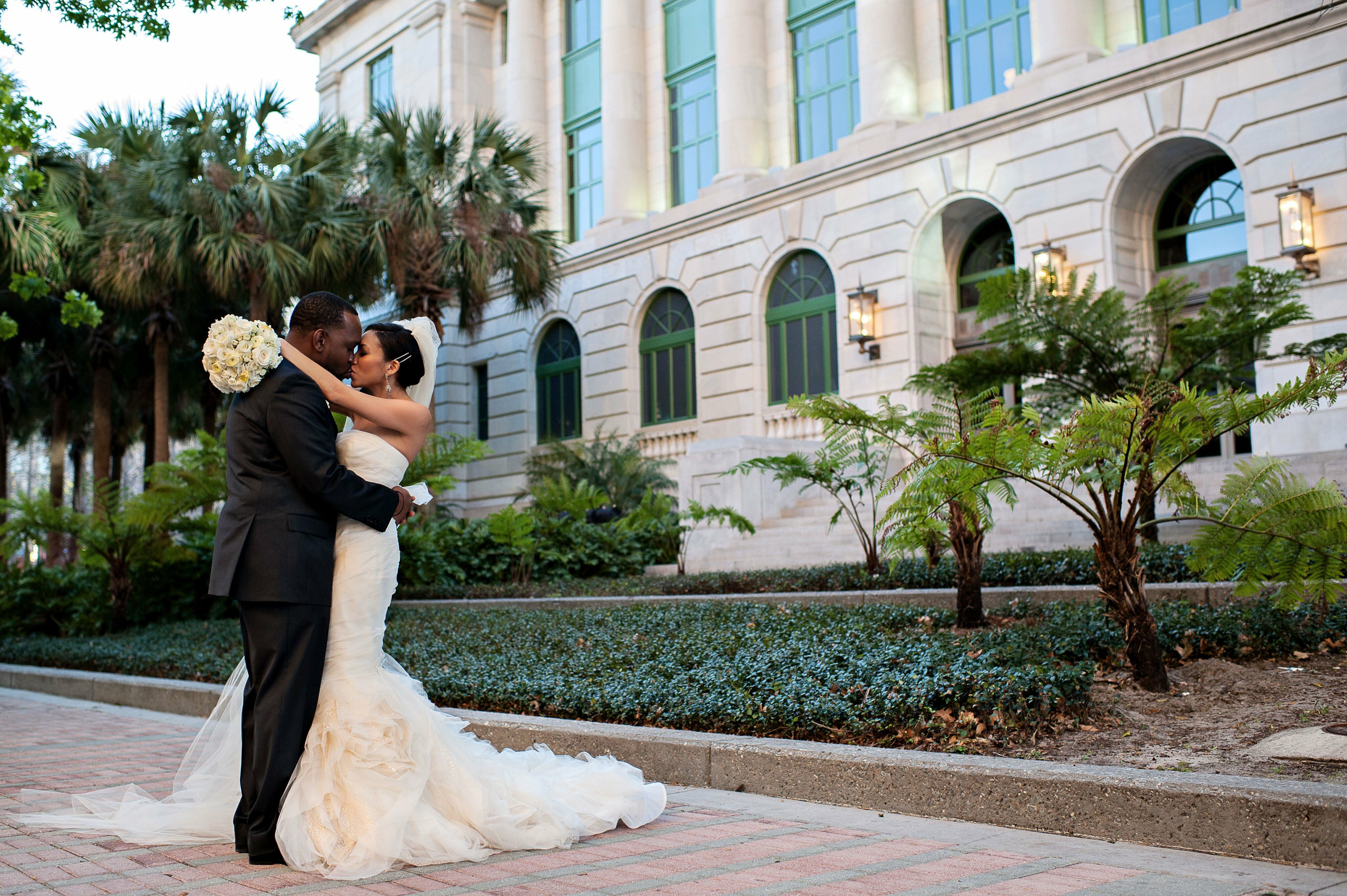 A modern southern wedding in orlando fl for Wedding dress stores orange county