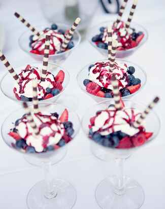 berry parfaits wedding dessert