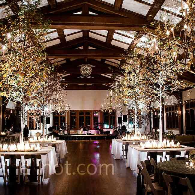 Forest-Themed Reception Decor