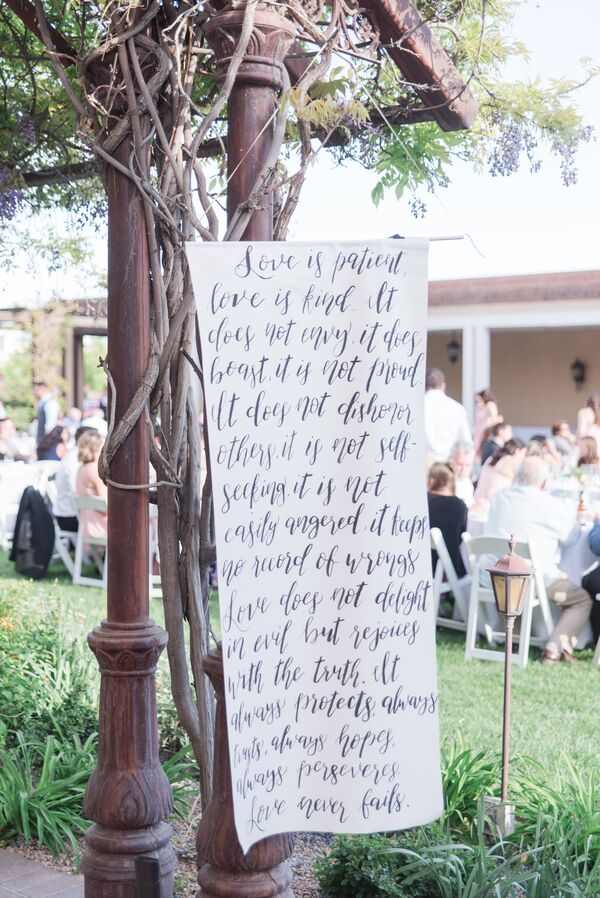 Hand-Lettered Reception Banner
