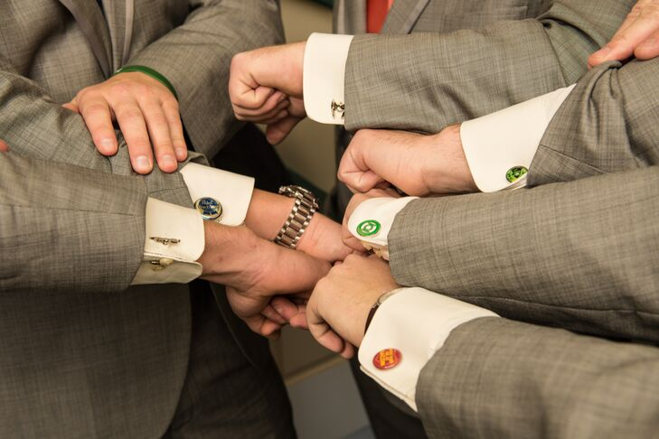 Colorful Cufflink Groomsmen Gifts