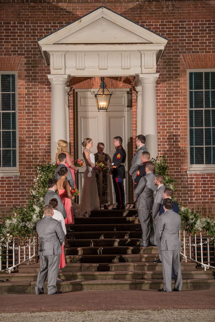 After winning Operation Marry Me Military, Thera and Sam had a variety of venues to choose from but but fell in love with Tryon Palace's historic architecture.