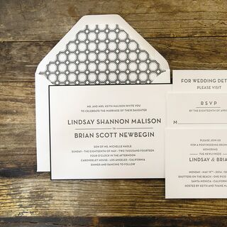 Real Modern Wedding Invitations