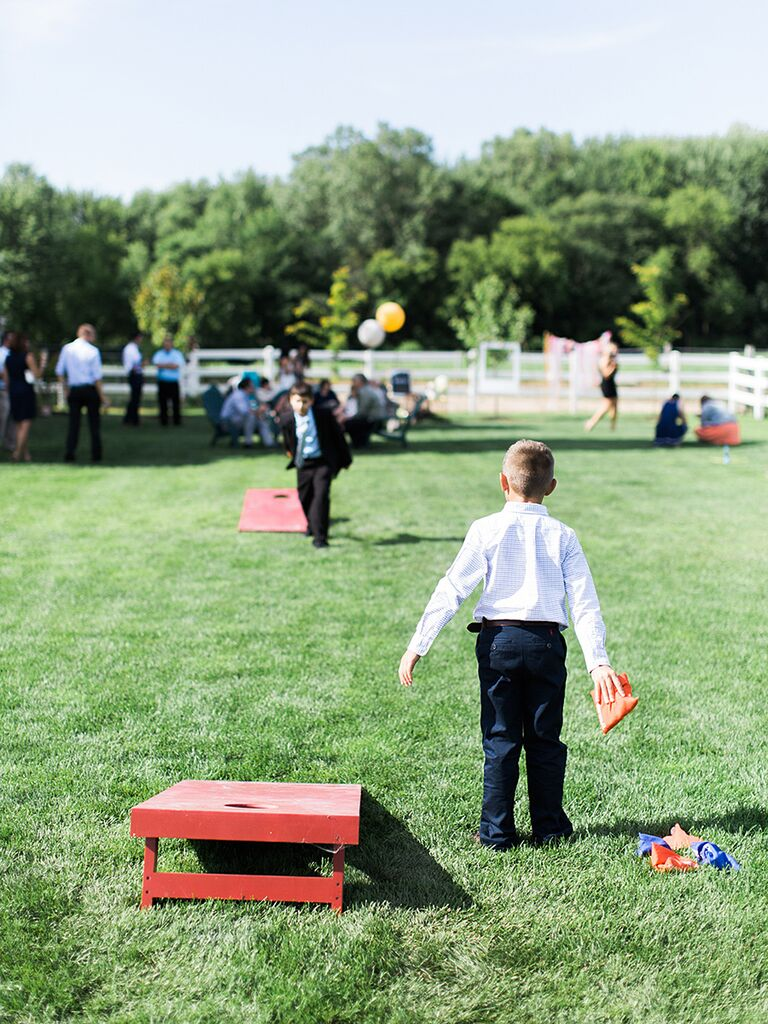 Fun kids games for a wedding reception