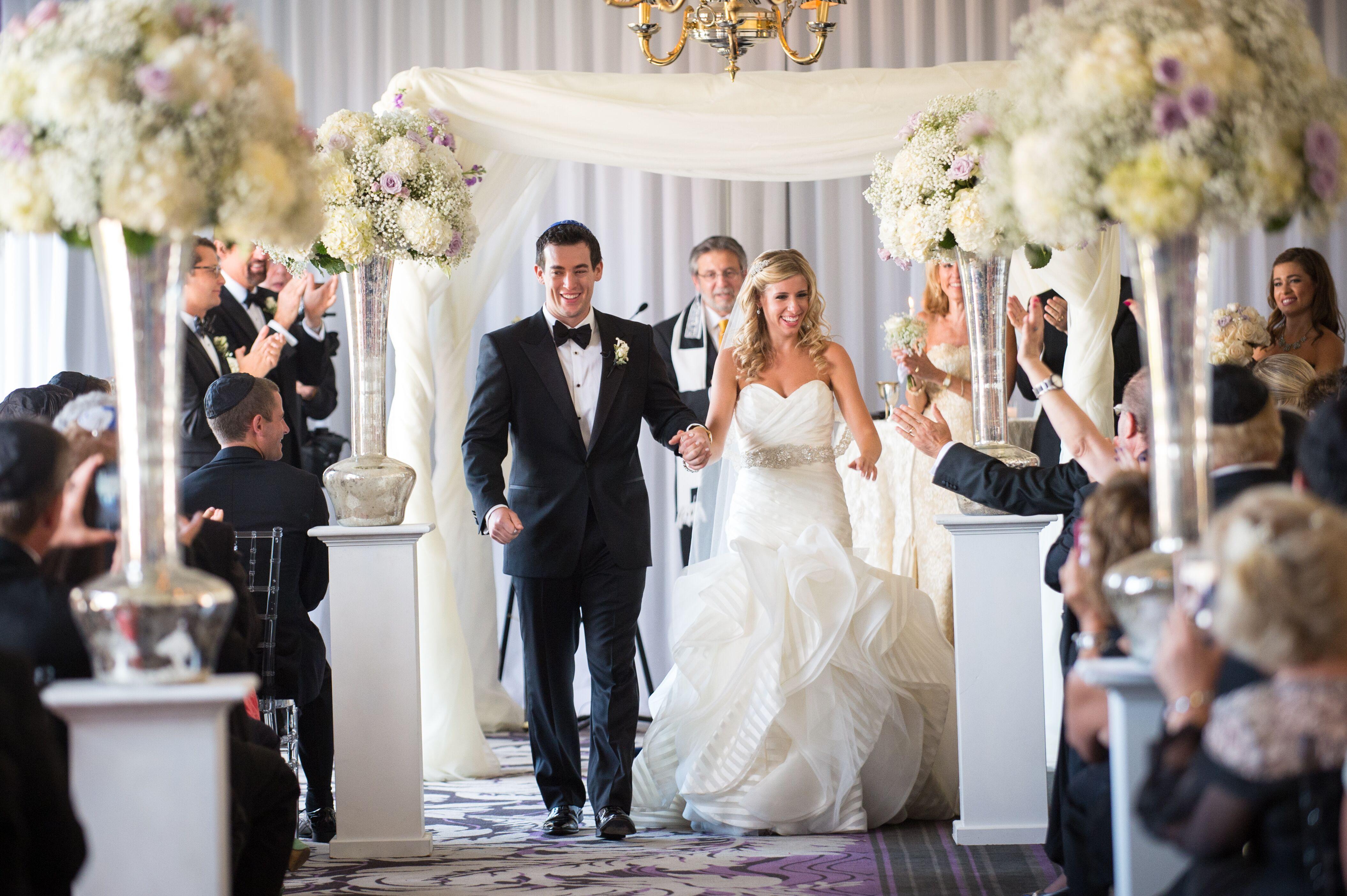 A Modern White Wedding Ceremony: Modern Jewish Wedding Ceremony Recessional