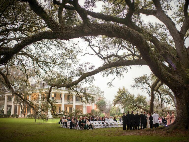 Plantation Wedding Reception In Louisiana