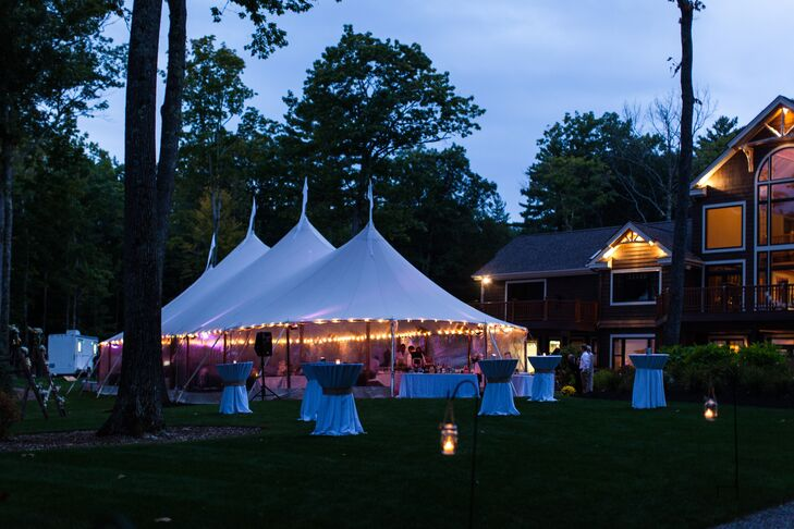 Backyard Sperry Tents Wedding Reception