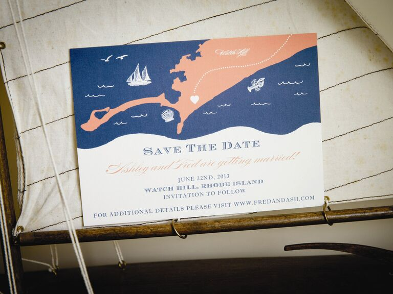 Nautical Destination Wedding Save The Date