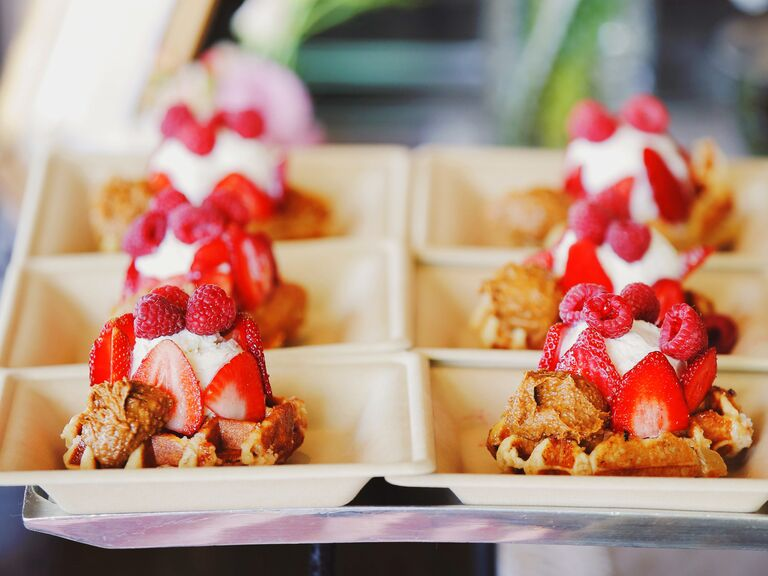 Outdoor Wedding Dessert Table With So Many Beautiful Ideas Via Kara S Party Karaspartyideas Com