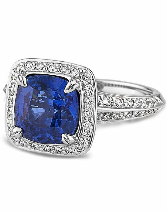 Ritani Cushion-Shaped Sapphire and Diamond Ring in 18kt White Gold (0.53 CTW) Engagement Ring photo