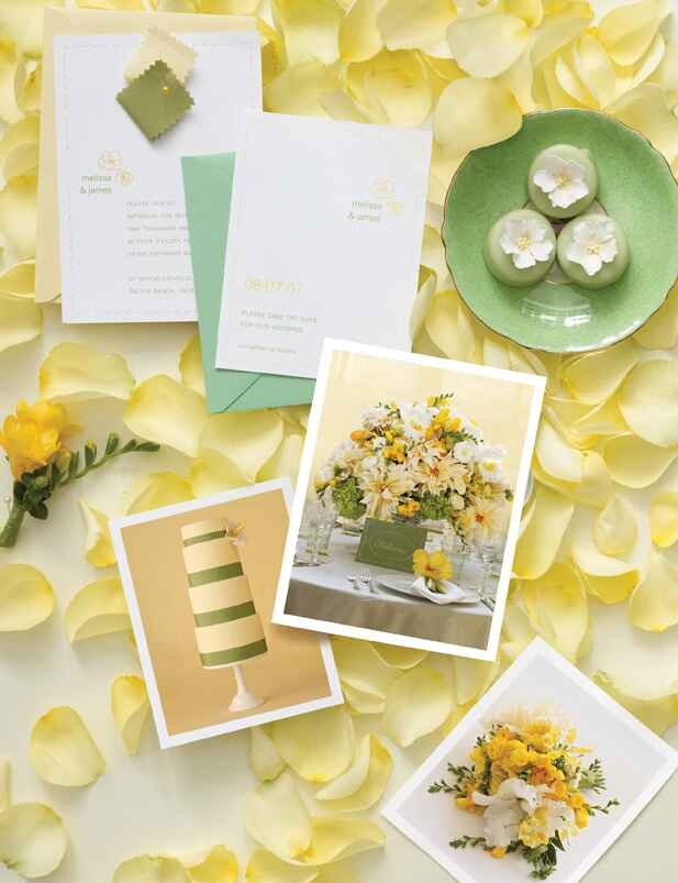 Wedding color inspiration board
