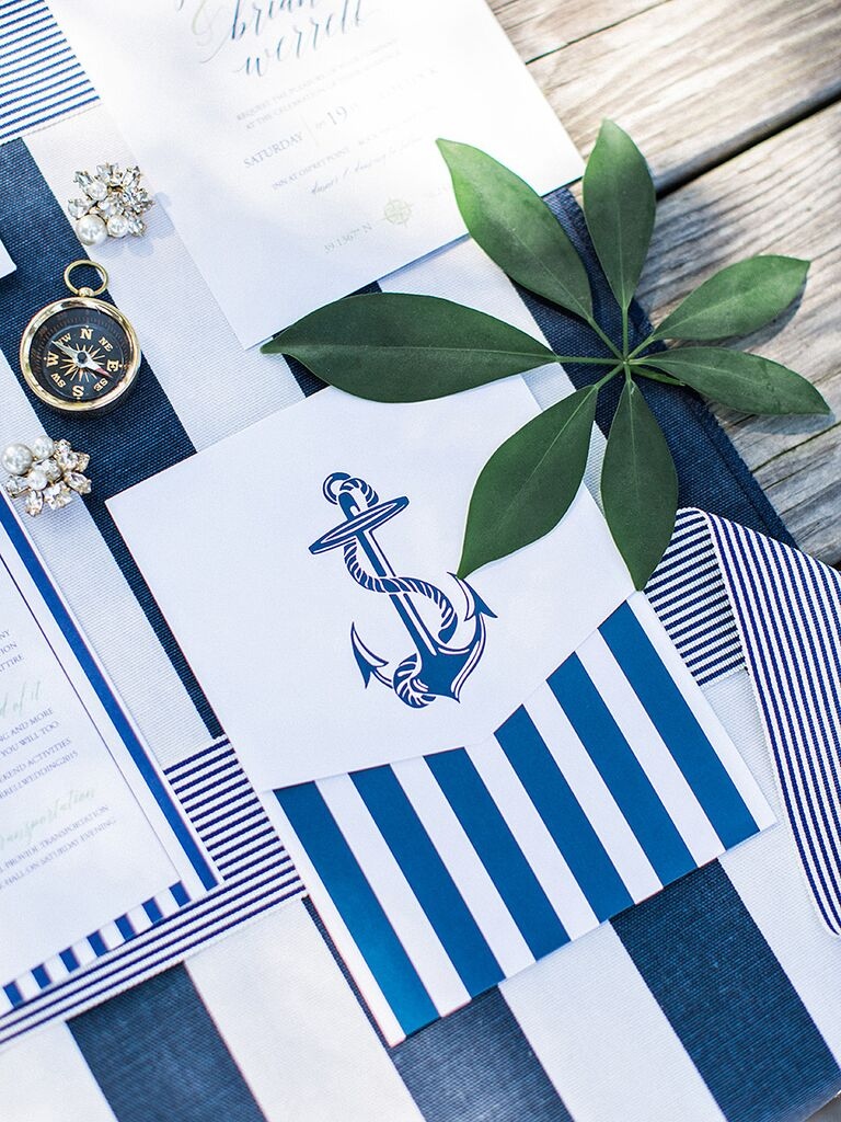 16 best nautical wedding ideas white and navy nautical invitation suite junglespirit Images