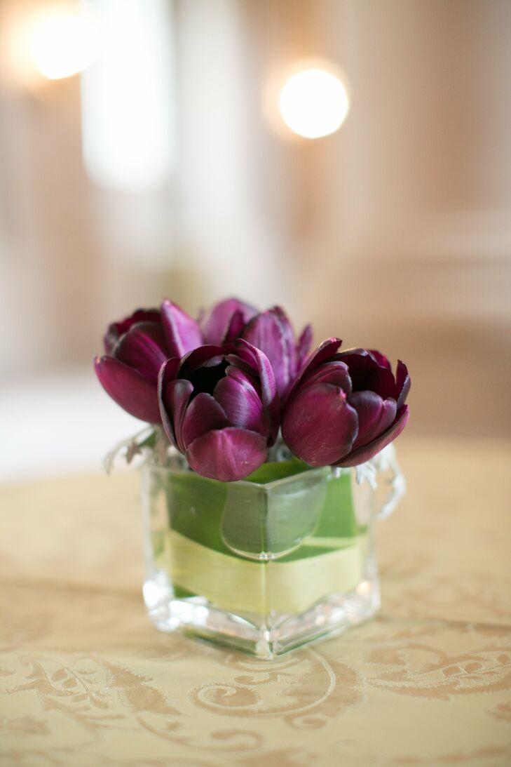 Purple Tulip Centerpieces