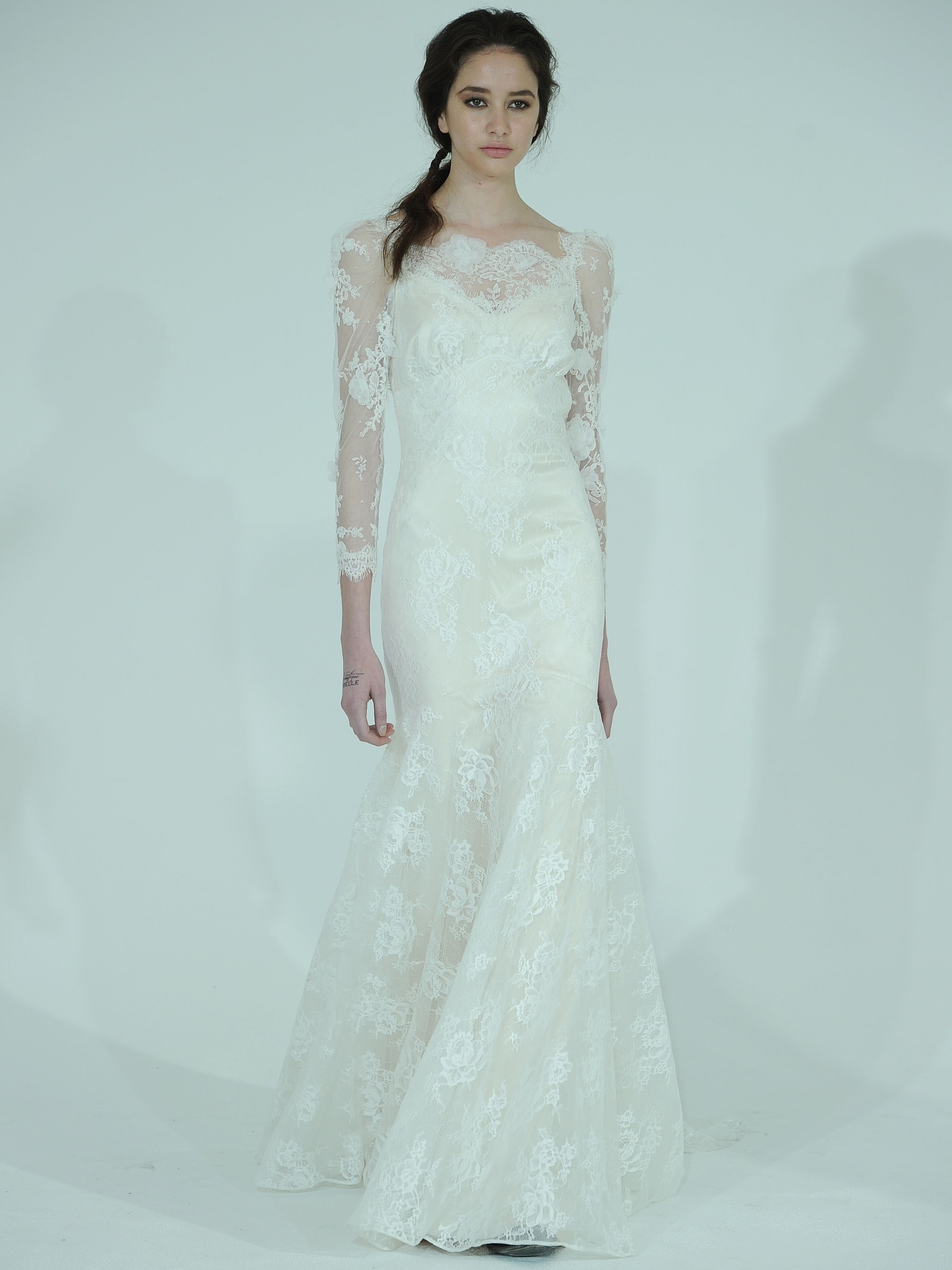 See Nikki Reed\'s Custom Claire Pettibone Wedding Dress!