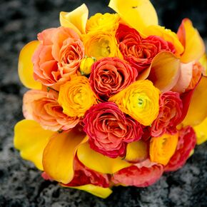 The French Bouquet Blog Inspiring Wedding Event Fls You Yellow Pink And Orange