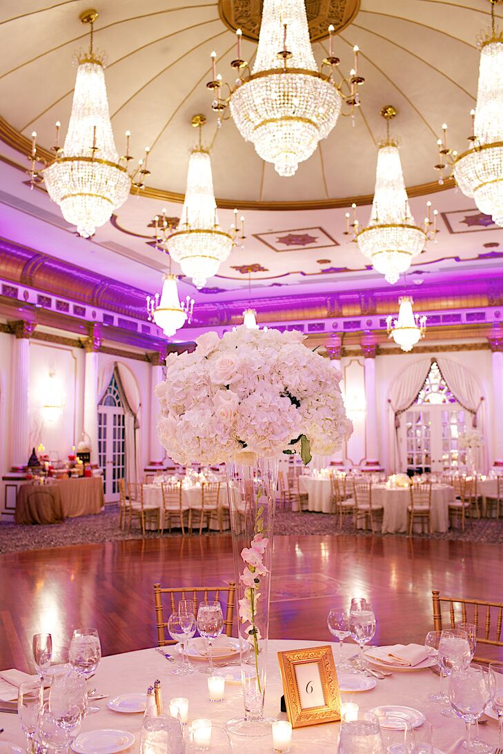 Ornate Gold and Pink Reception at Crystal Plaza
